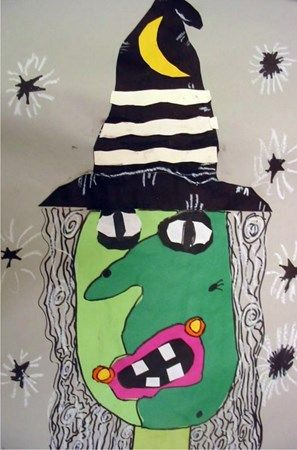 "Exhibit ""If Picasso Made Witches..."" by Brinlee2 from Cedar Creek Elementary-Grade 3"