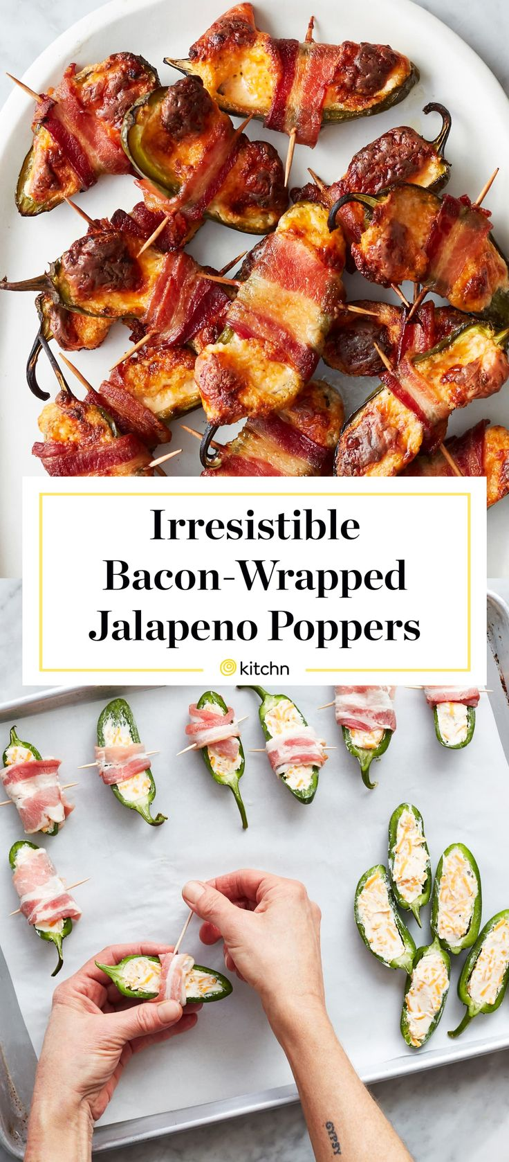 Bacon Wrapped Jalapeno Poppers, Stuffed Jalapenos With Bacon, Stuffed Hot Peppers, Bacon Wrapped Appetizers, Jalapeno Recipes, Bacon Jalapeno Poppers, Pepper Poppers, Bacon Wrapped Asparagus, Appetizer Recipes