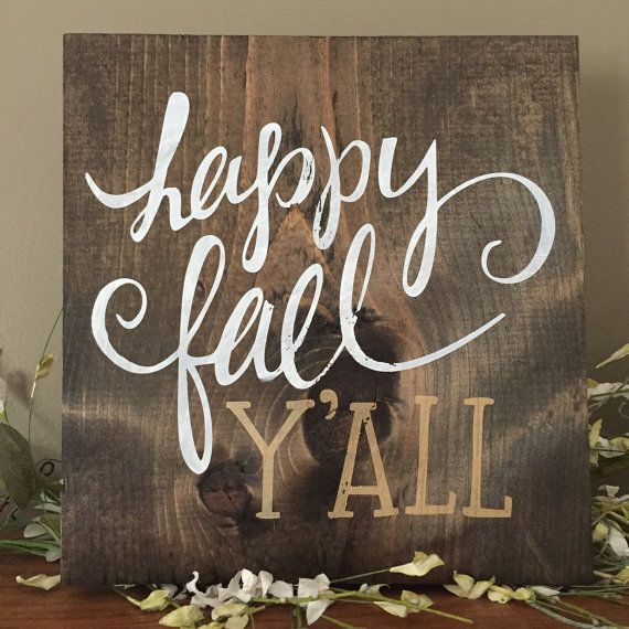 Happy+Fall+Y'All+Wood+Sign+Gold+Fall+Decor+by+CreateDesignLive