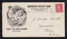 CHICKEN ADVERTISING North Harpersfield, NY 1920 Single Comb White Leghorns