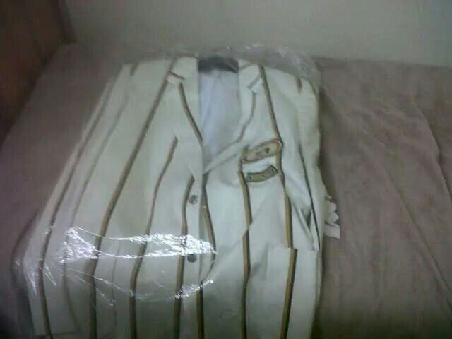 White blazer for 1st team rugby and water polo