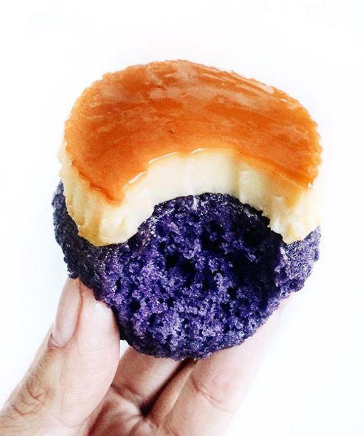 Ube & Leche Flan Cupcakes