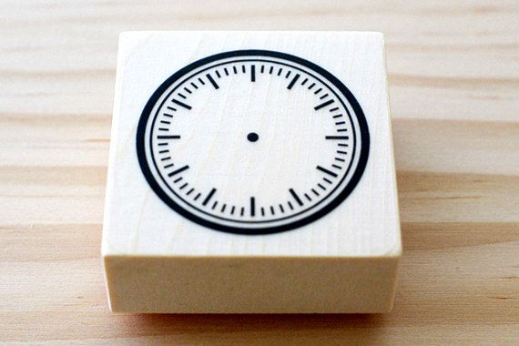 Rubber stamp  Clock