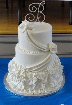 Rolled Fondant Swag Wedding Cakepretty