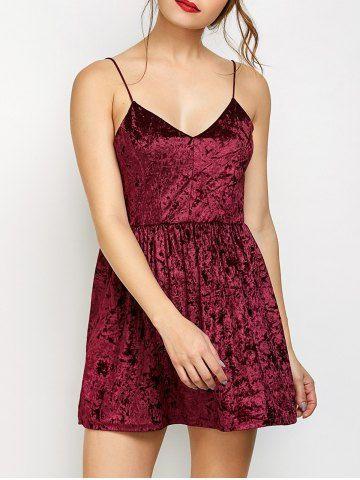 GET $50 NOW | Join RoseGal: Get YOUR $50 NOW!http://m.rosegal.com/club-dresses/velvet-criss-cross-backless-dress-982386.html?seid=9663341rg982386