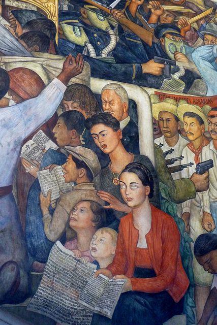Mural de Diego Rivera en el Palacio Nacional en la Ciudad de México City.