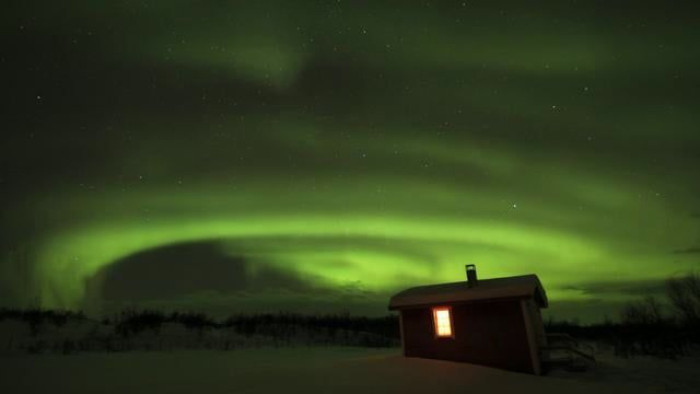 "My first Upload on Vimeo! It's episode 3 of my ""Chrigu's View"" series.   Northern Lights in Ravnastua (Norway) January 2011."