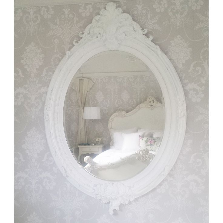 NEW! Coco Large White Mirror  |  Small / Wall Mirrors  |  Mirrors & Screens  |  French Bedroom Company