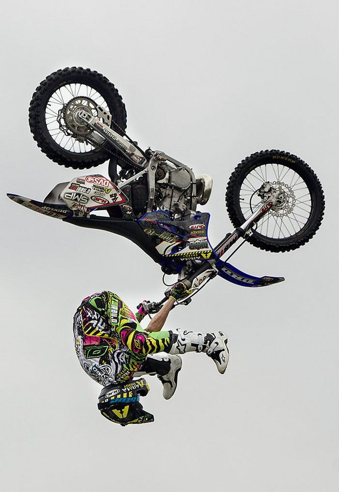 Matt Buyten of the Monster Energy Freestyle Motorcross show performs a flip at the 2012 Carlisle Bike Fest Saturday, July 21, 2012. JOHN C. WHITEHEAD/The Patriot-News
