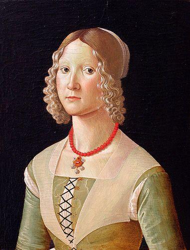 Selvaggia Sassetti (b. 1470), 1487-88, by Davide Ghirlandaio (aka. David Ghirlandaio and Davide Bigordi) (Italian, 1452–1525)