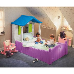 little tikes storybook cottage twin bed purple