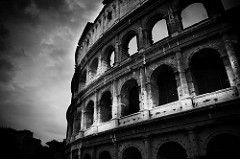 gladiators fighting in the colosseum tattoo black and white designs - - Yahoo Image Search results