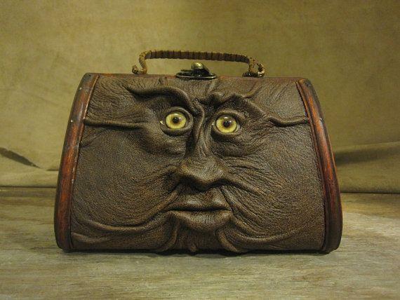Grichels leather and wicker purse - \u0026quot;Wachew\u0026quot; 14325 - distressed ...