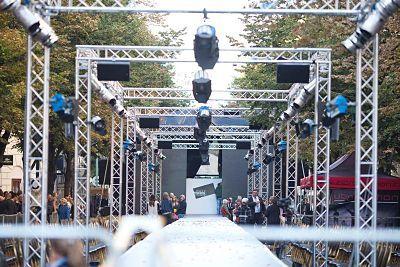 Custom Fashion Industry walkway, catwalk, runway Lighting Truss by VersaTruss Plus http://versatrussplus.com