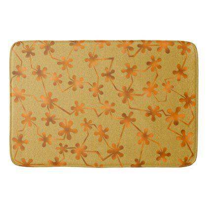 #Blobs and Bars Orange Bath Mat - #Bathroom #Accessories #home #living