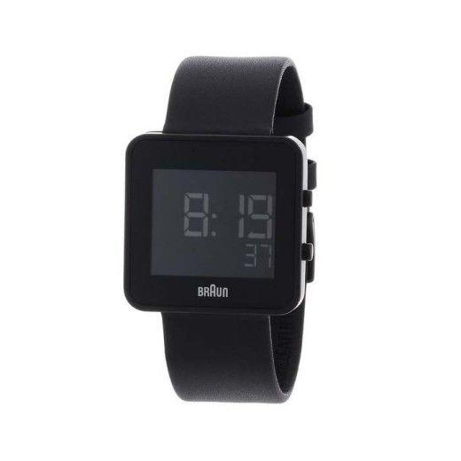 Braun Men's BN0046BKBKG Digital Digital Display Quartz Black Watch
