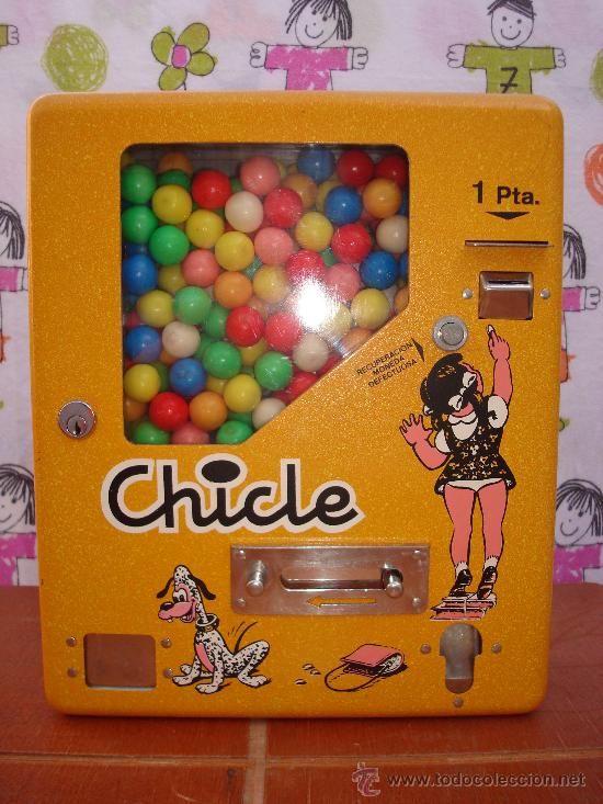 Somos Ochenteros: Tecnología: Expendedoras de bolas de chicle