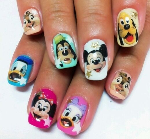 Character Design Nail Art : Disney characters nail art nails pinterest