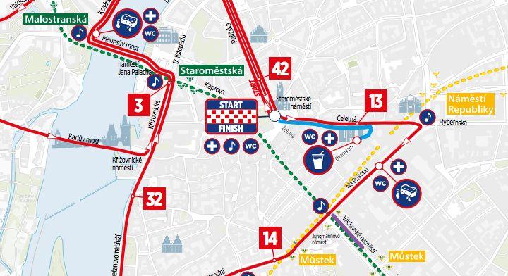 Prague Interanationa marathon course map