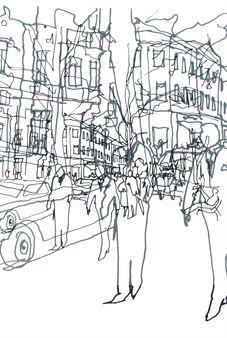 Det trendiga tyget Hetkiä även kallat Moments är designat av Maija Louekari för Marimekko. Tyget är tillverkat i bomull av hög kvalitet och har en prisbelönad design från 2003. Tyget har ett modernt mönster som går i svart-vita toner som visar en levande stadsbild. Använd tyget som konst på väggen eller varför inte som en gardin