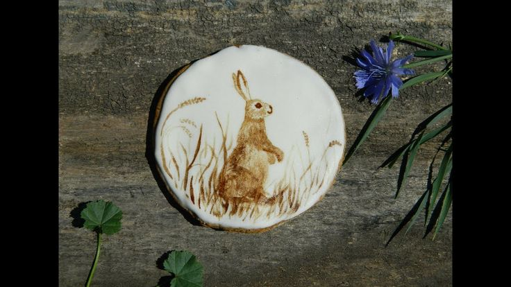 🎨Как нарисовать кофейного зайчика на прянике / How to draw a rabbit on c...