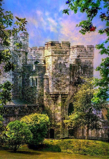 Arundel Castle is a restored medieval castle in Arundel, West Sussex, England. It was established by Roger de Montgomery on Christmas Day 1067. Roger became the first to hold the earldom of Arundel by the graces of William the Conqueror.