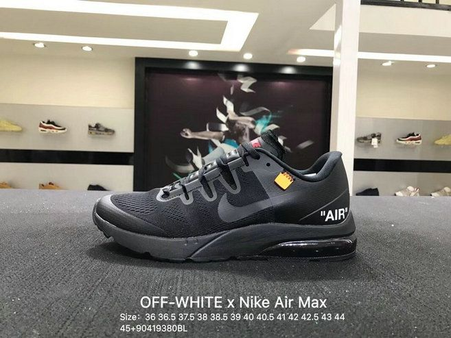 9d3b2c5a2717f Cheap OFF WHITE x Nike Air Max Saunterer Running Sports Shoes Triple Black