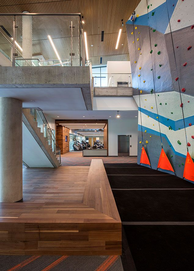 Toyota Hq In Plano Tx Features Terramai S Mc Walnut In Several Of The Communal Gathering Areas Like The Fitness Center Sho Engineered Flooring Communal Home