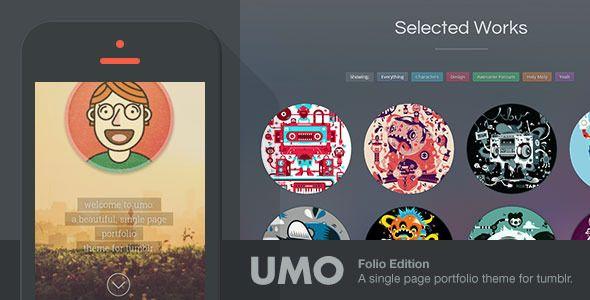 UMO Folio - A One Page Portfolio Theme For Tumblr - Portfolio Tumblr