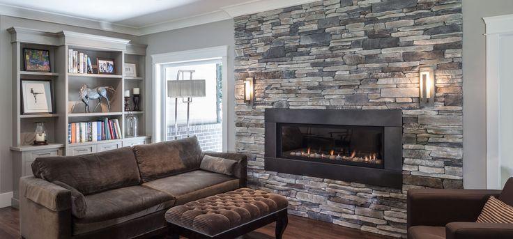 Fireplace: Echo Ridge® SOUTHERN LEDGESTONE - Cultured Stone® Brand_Manufactured Stone Veneer