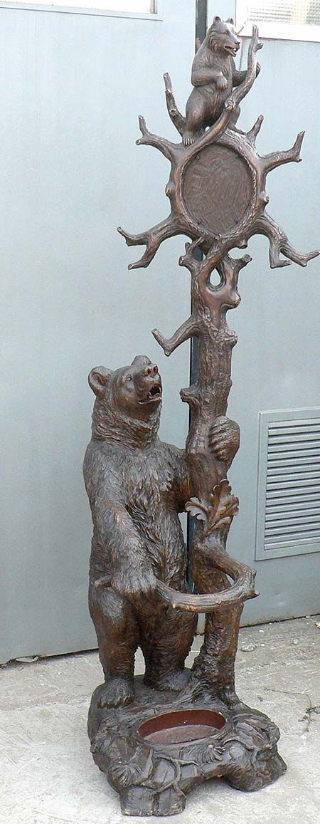 great carved bear hall stand