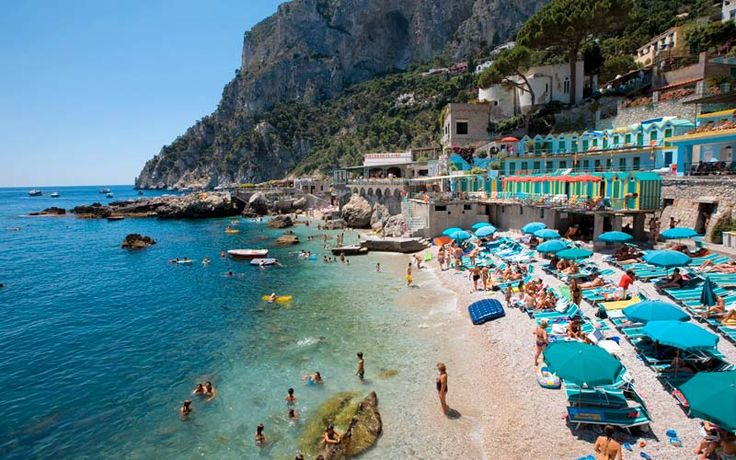Beautiful #Beach of #Capri #Italy. Plan  your next vacation here