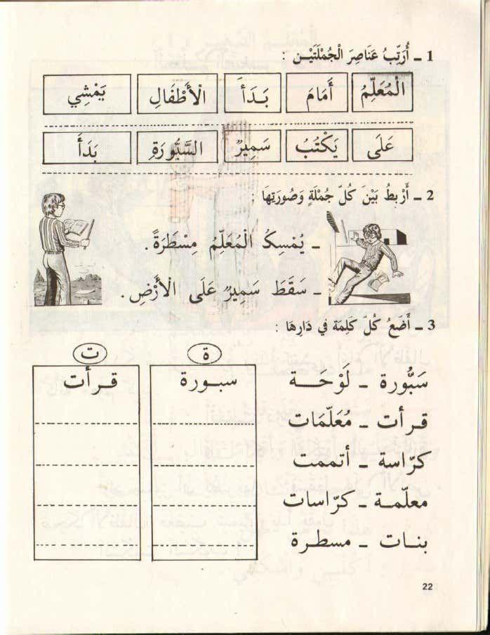 كتاب القراءة السنة اولى اساسي قديم اقرأ الجزء الثاني الجزائر Arabic Language Arabic Worksheets Learning Arabic