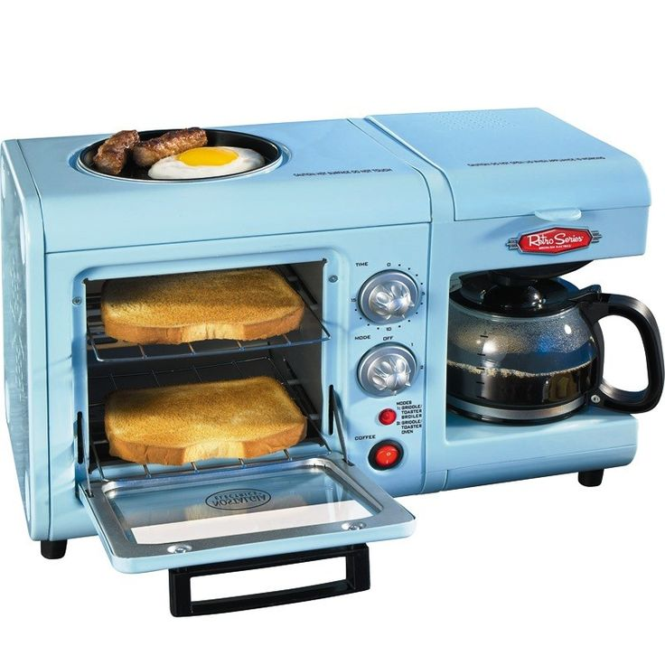 3-In-1: Coffee Maker, Toaster Oven, Griddle Hot Plate, Breakfast Cooker Machine Mondays, Ovens ...