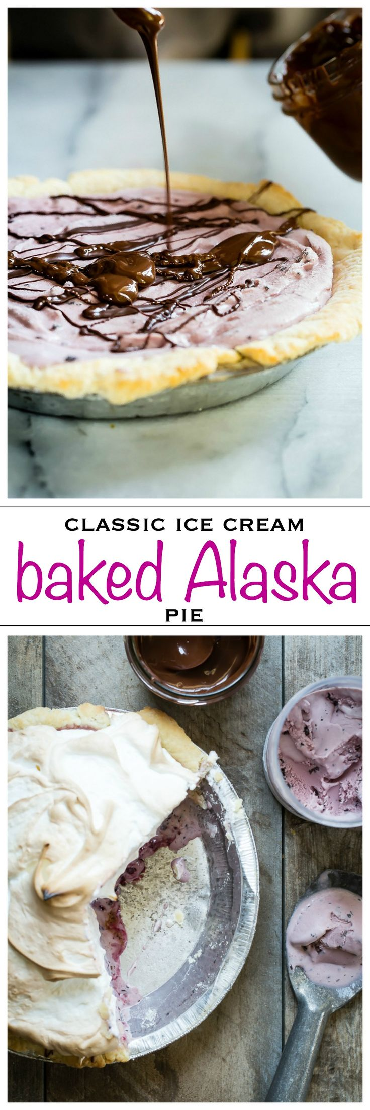 Your favorite ice cream topped with fluffy meringue and baked in the oven. The classic Baked Alaska | Foodness Gracious