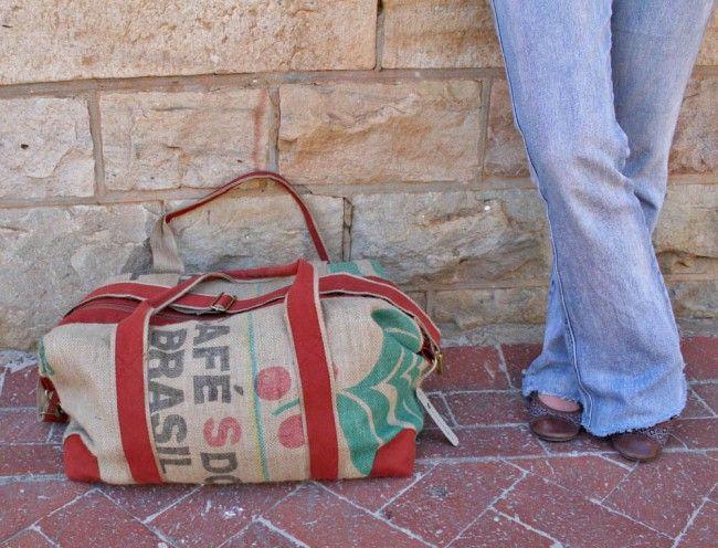 Organic Coffee Travel Bag weekendtas rood - € 119,95