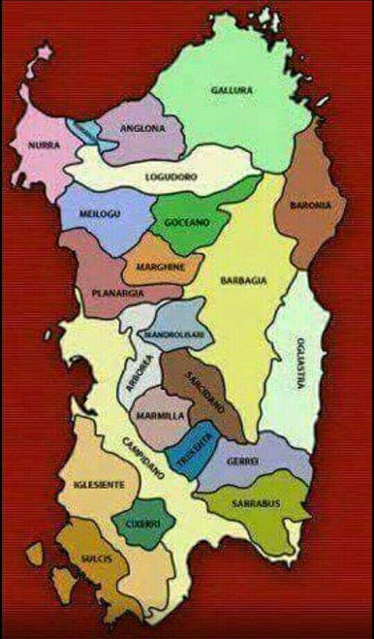 Sardegna- Le Sub/regioni.
