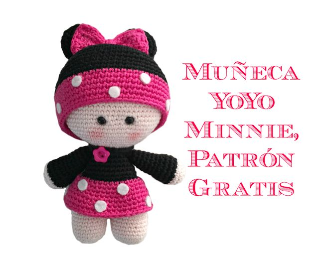 Minnie pop amigurumi