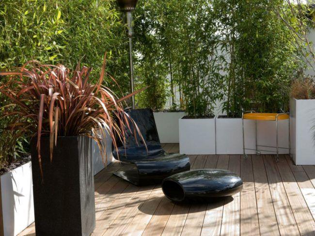 Die besten 25+ Dachterrasse japanischer garten Ideen auf Pinterest - japanischer garten bambus
