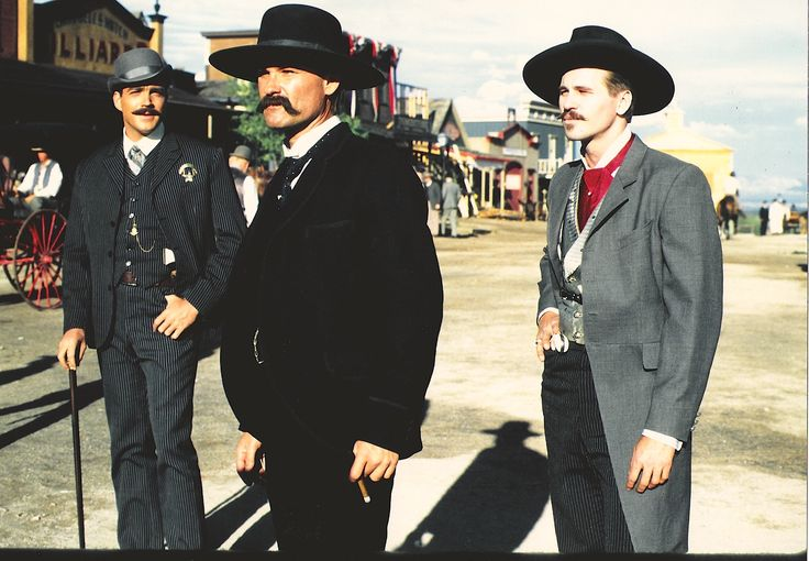Tombstone.  John Tenney, Kurt Russell and Val Kilmer wearing my designs.  #josephporro