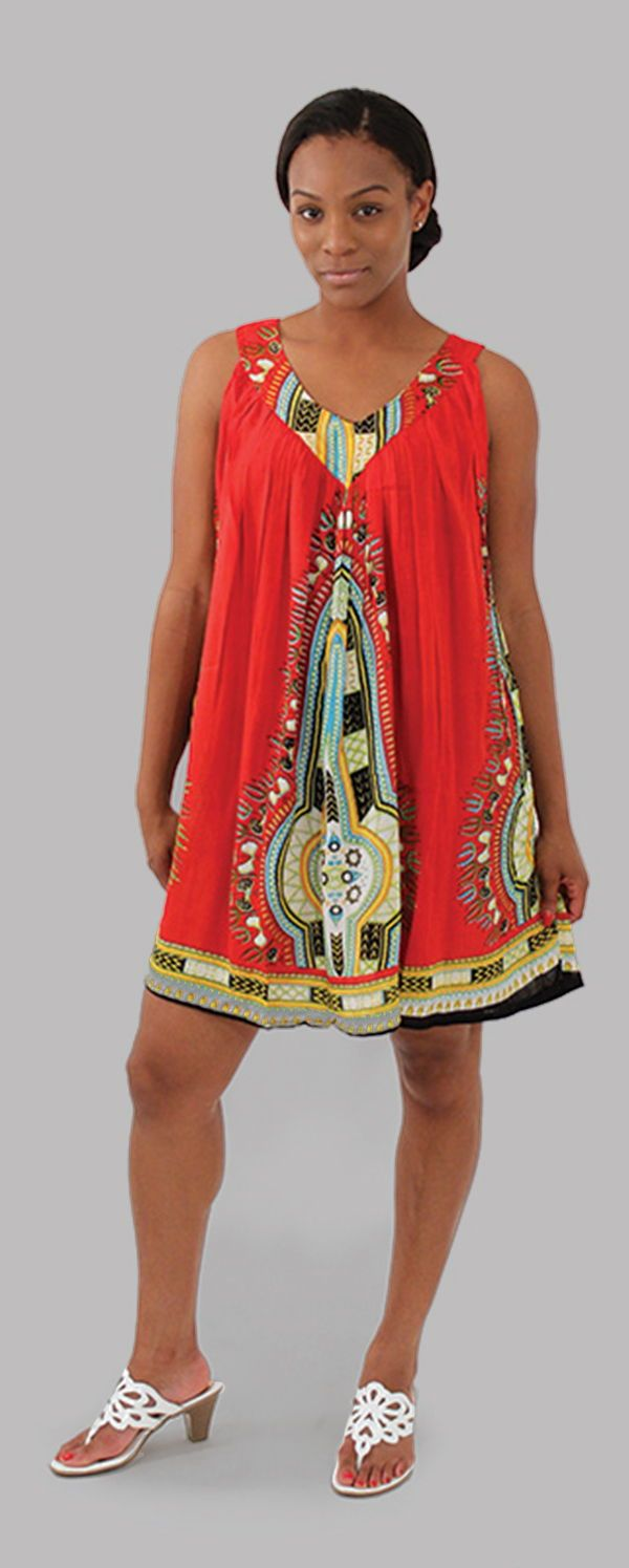 15b8538ef1 Traditional African Print Sundress - This beautiful African style sundress  is perfect for wearing to both
