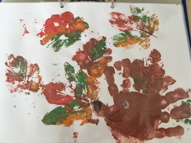 Herbstbild, Igel, mit Kindern