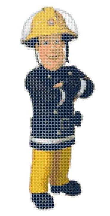Pixel Art Sam Le Pompier