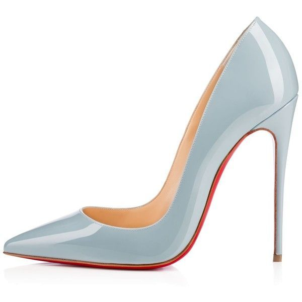 CHRISTIAN LOUBOUTIN So Kate 120Mm Horizon Patent ($675) ❤ liked on Polyvore featuring shoes, pumps, heels, scarpe, heels  pumps, high heel pumps, neon pointy toe pumps, pointy-toe pumps and high heels stilettos