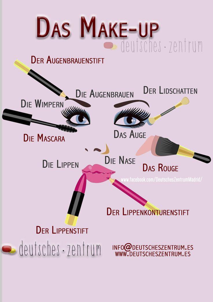 Make-up Deutsch Wortschatz Grammatik Alemán German DAF Vocabulario