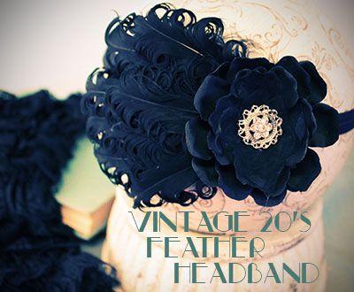 DIY Vintage Nagorie Feather Pad Headband