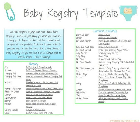 11 best organizational templates images on pinterest for Top things to register for wedding