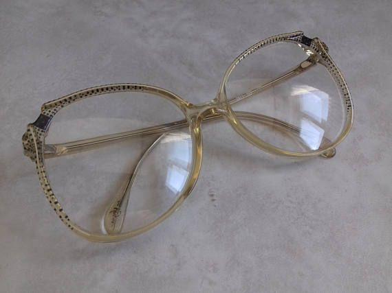 Vintage Oversize Eyeglasses Metzler En Vogue model 0611-Stylish Butterfly Shape Woman's Frames made in Germany 80's – Products