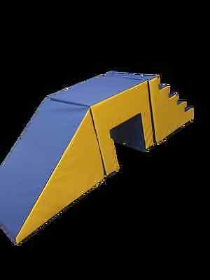 "Giant stepslide with tunnel soft play toys4kids 30""HX30""LX30""W SLIDE 36""L (2.5M) https://www.ebay.co.uk/itm/152509824075 #Giantstepslide  #Giantstepslidewithtunnel #softplaytoys4kids"