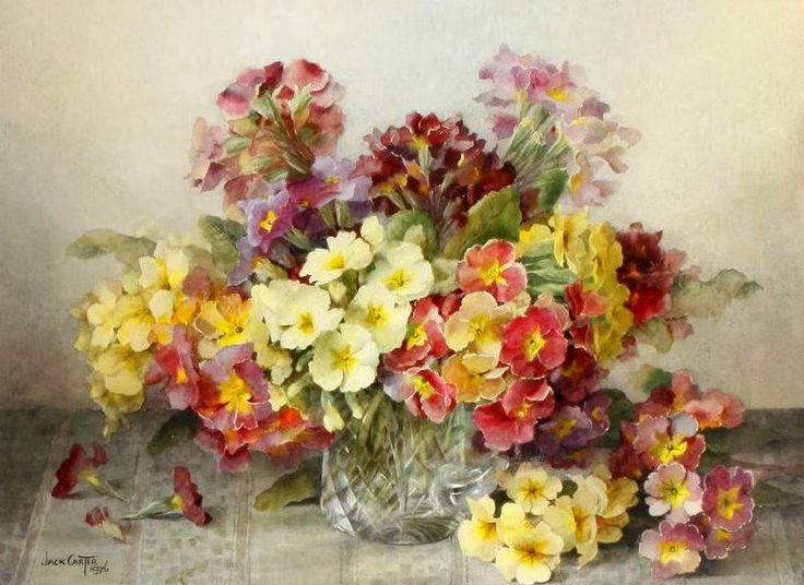 FLORES (pág. 501) | Aprender manualidades es facilisimo.com Artist: Jack Carter, (1912-1992) British